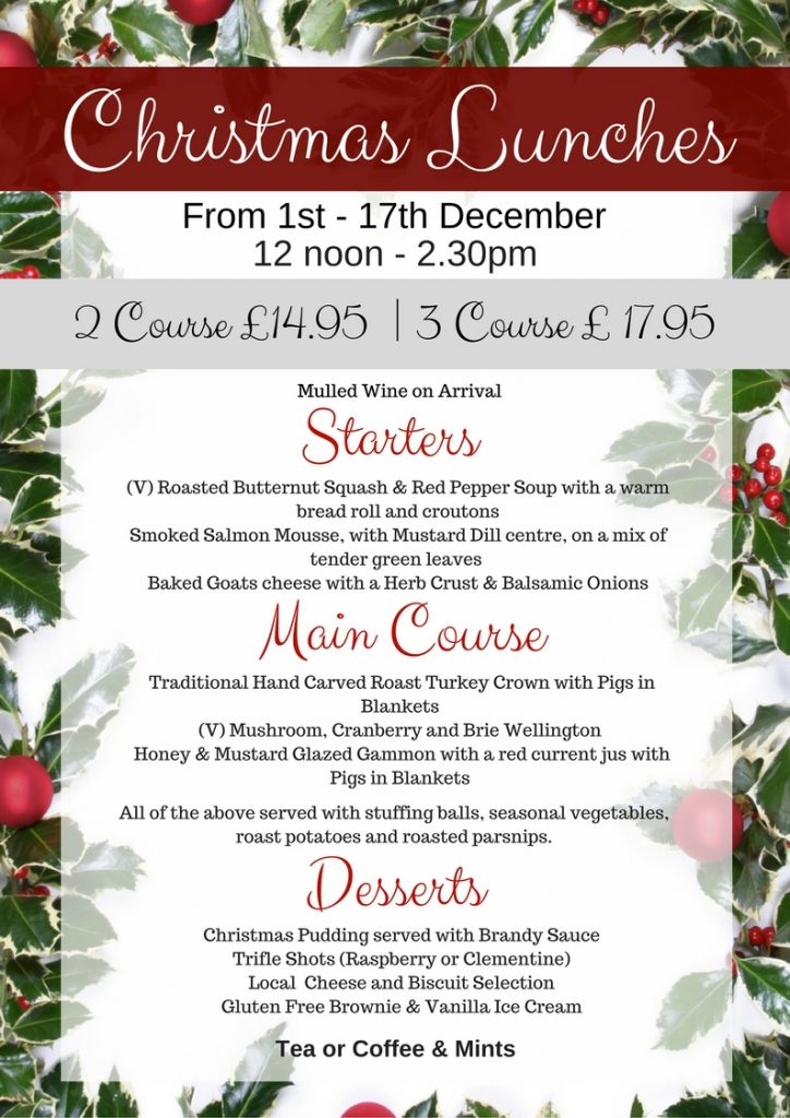 Allerthorpe - Xmas lunch menu poster 2017 (1)