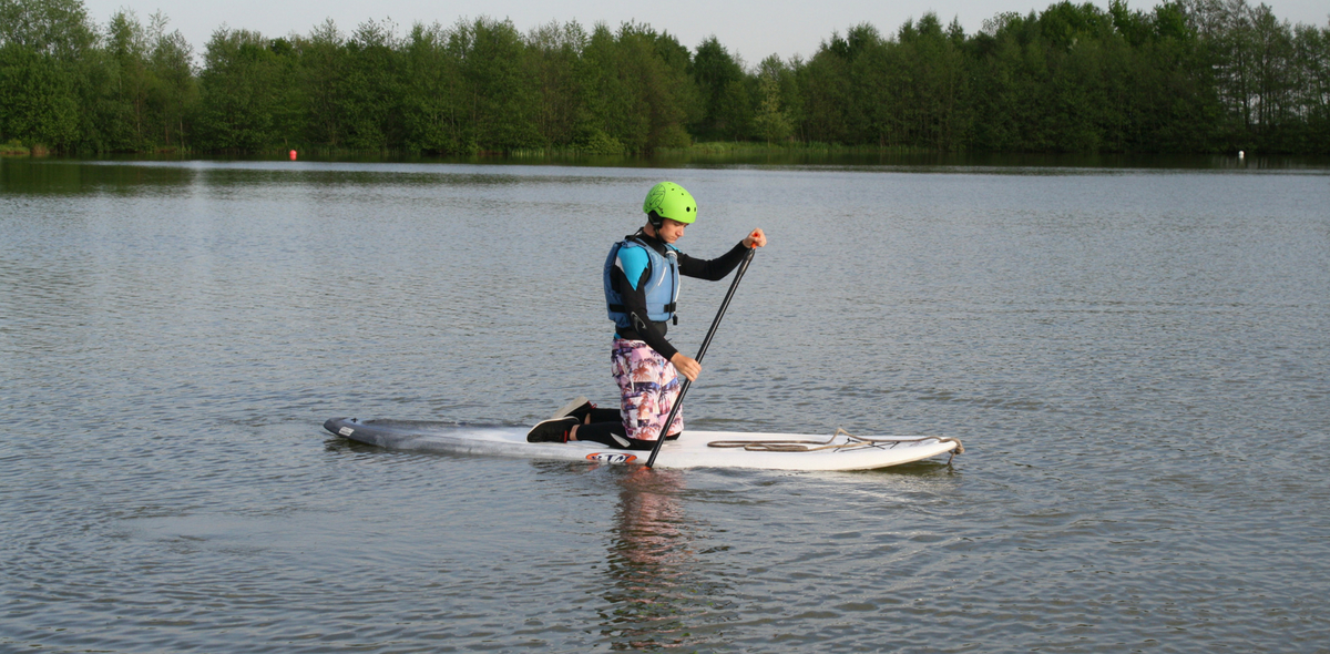 Windsurfing at Allerthorpe Lakeland Park