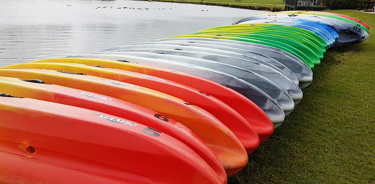 Kayaks at Allerthorpe Lakeland Park