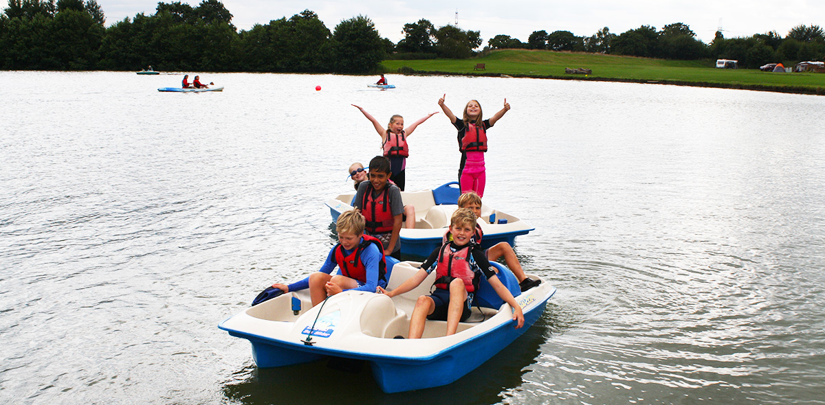 Pedalos at Allerthorpe Lakeland Waterpark